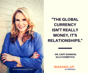 """Global currency is not money, it's relationships."" - Dr. Cary Gannon #loveAILA"