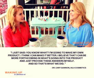 """I 'm going to make my own product... And provide these answers myself"" - Dr. Cary Gannon on #wakingupinamerica #loveAILA"