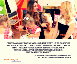 """I needed to be Lucinda before the Skater."" - Lucinda Ruh, figure skater, author on #wakingupinamerica"