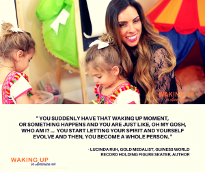 """You start letting your spirit and yourself evolve and then, you become a whole person."" - Lucinda Ruh, figure skater, author on #wakingupinamerica"